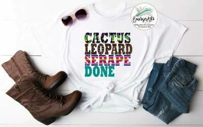 Cactus Leopard Done Tee