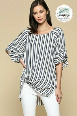 Laura Stripped Tunic Top