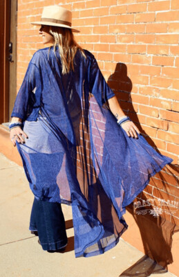 CRAZY TRAIN Denim Blue DUSTER