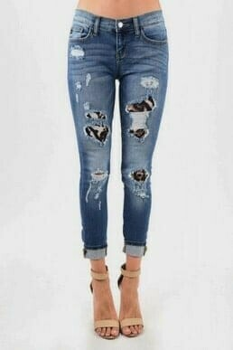 Judy Blue Jeans - Leopard Distress