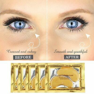 Crystal Gold Eye Masks