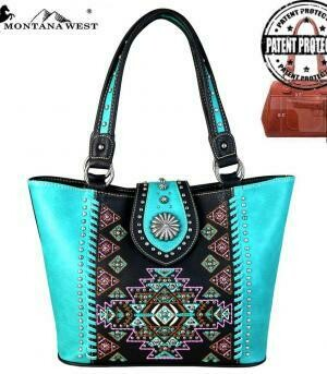 Montana West Aztec Collection Tote CONCEAL CARRY