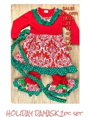 HOLIDAY DAMASK 2PC SET