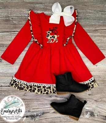 LEOPARD REINDEER DRESS