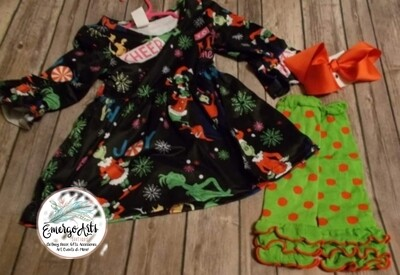 GRINCH 3PC DRESS SET