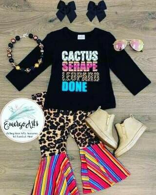 CACTUS, SERAPE, LEOPARD, DONE 2PC SET