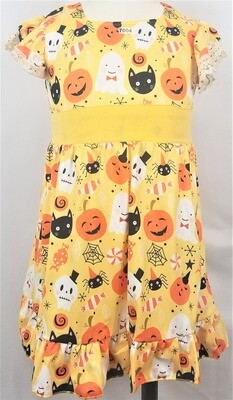 WHIMSICAL SPOOKY FRIENDS DRESS