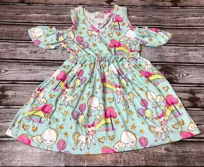 WHIMSICAL PEEK A BOOK DRESS