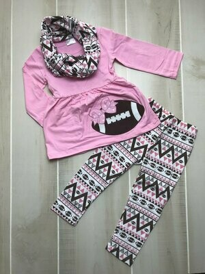 FOOTBALL 3PC SCARF/PANT SET