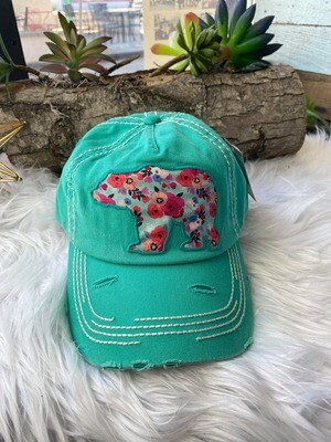 Mamma Bear Floral Hat