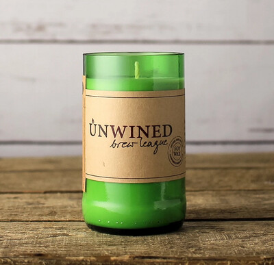 Unwined Brew League Bottle Candle
