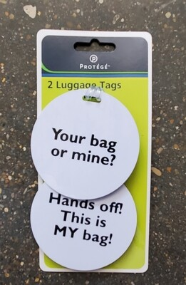 LUGGAGE TAGS 2pc