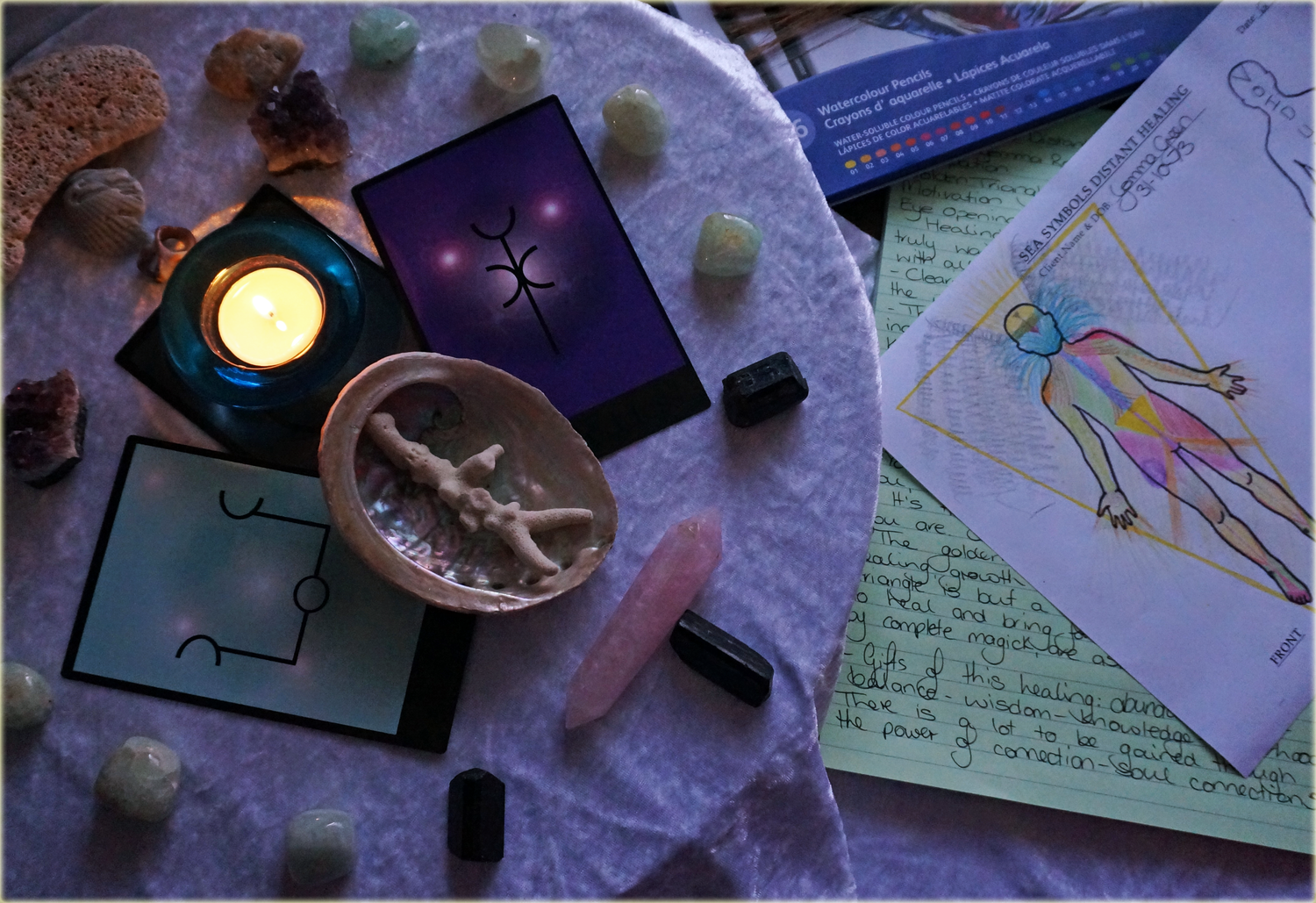 Sea Symbols & Crystal Distant Energy Healing & Insight