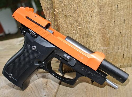 Kimar Mod  85 Front firing 8mm P A K  Blank Pistol (Orange slide)