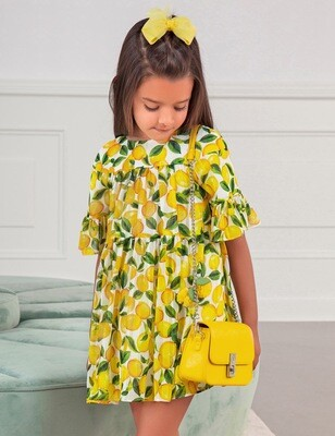 Abel & Lula Lemon Dress 5036