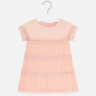 Mayoral Peach Lace Dress
