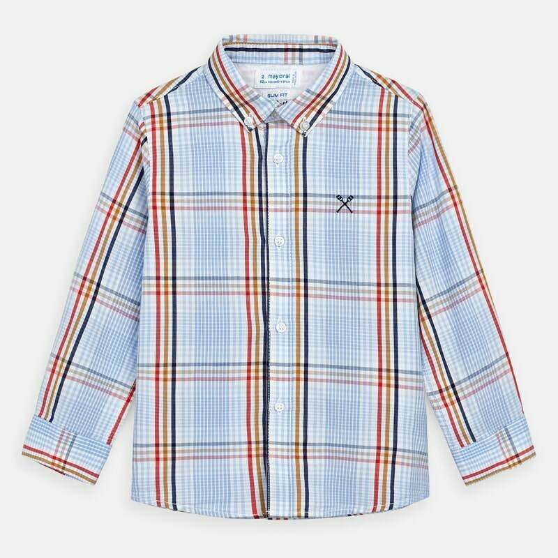 Mayoral Spring Long Sleeve Button-down Shirt