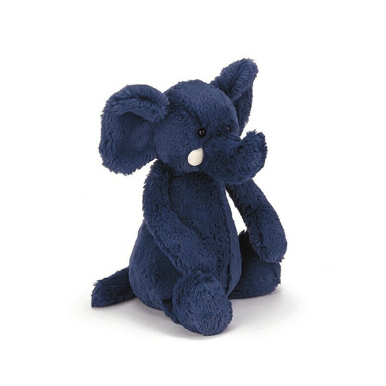 JellyCat Medium (12in) Bashful Elephant - Blue