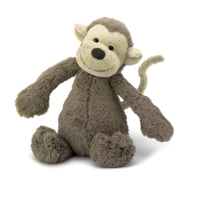 JellyCat Medium (12in) Bashful Monkey