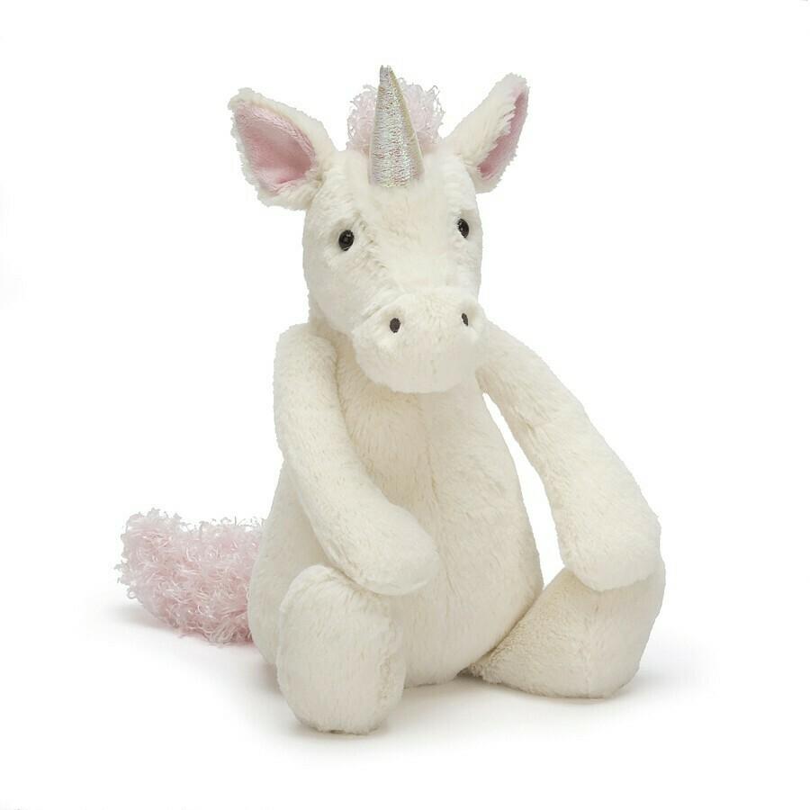 JellyCat Medium (12in) Bashful Unicorn