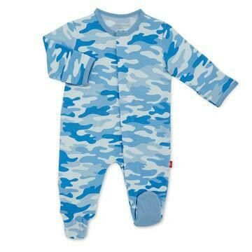Blue Camo Chic Modal Magnetic Footie