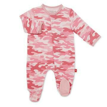Pink Camo Chic Modal Magnetic Footie
