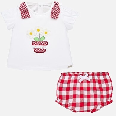 Mayoral Red Bloomer Set