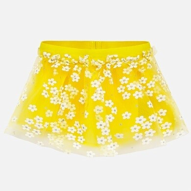 Mayoral Tulle Skirt Yellow
