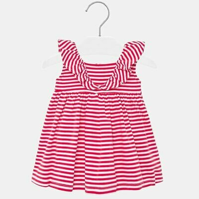 Mayoral Stripe Red Dress