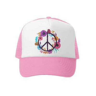 GROM SQUAD PEACE HAT PNK