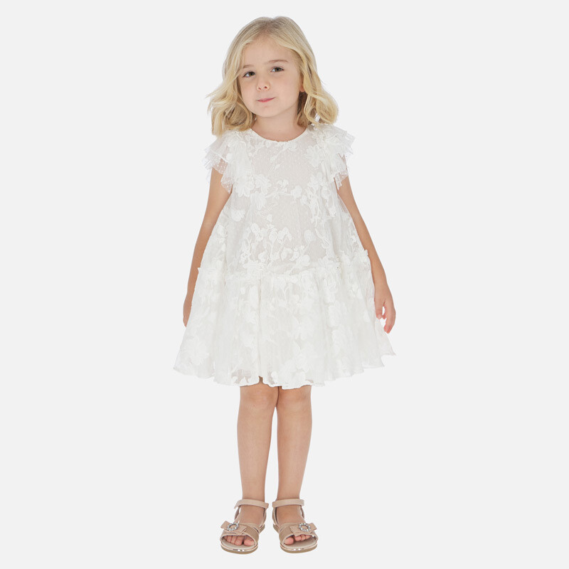 Mayoral Tulle Dress White 3921