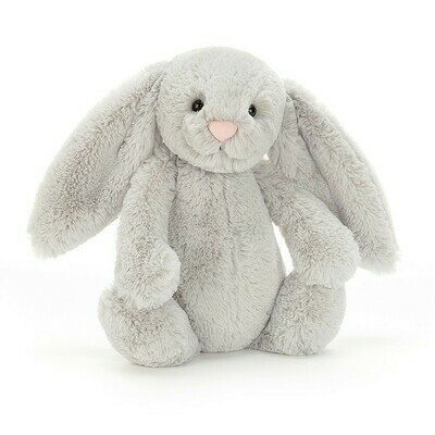 JellyCat Bashful Grey Bunny Medium 12