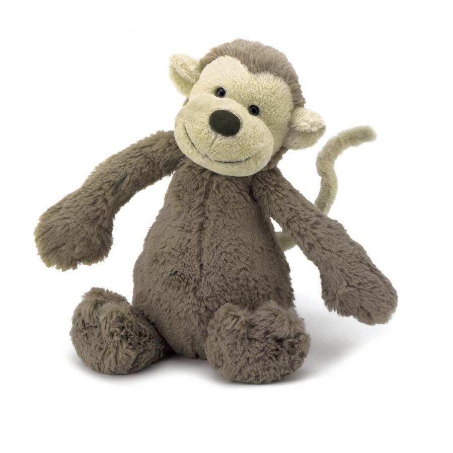 "JellyCat Bashful Monkey Medium 12"""