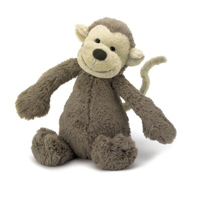 JellyCat Bashful Monkey Medium 12