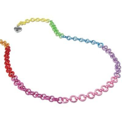 CIN304  Rainbow Chain Necklace