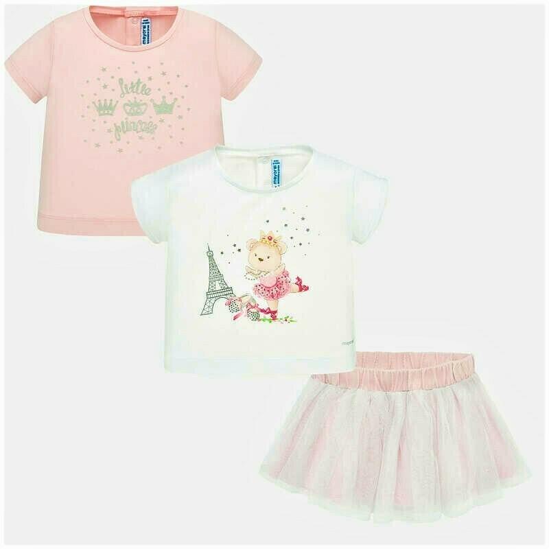 Mayoral 3-PC Skirt Set