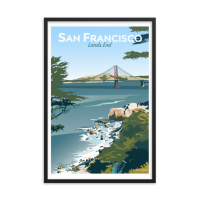 San Francisco: Lands End - FRAMED