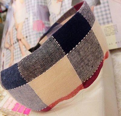 Beautiful checkers wide headband