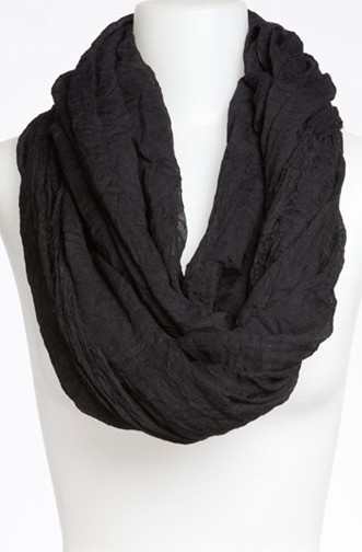 Fringe cotton solid infinity scarf 00812