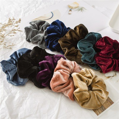 Large velvet scrunchies