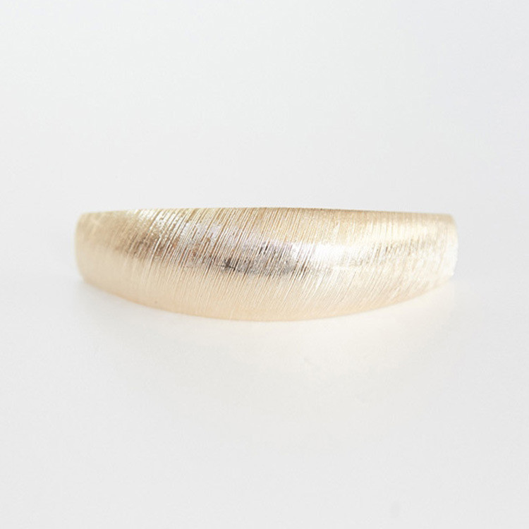 Oval Brushed metal hair barrette