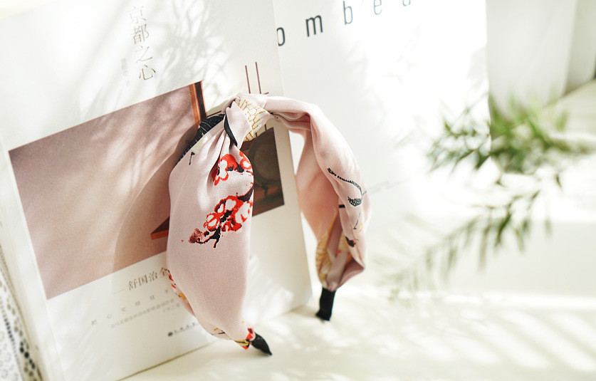 Classic floral printing knot headband
