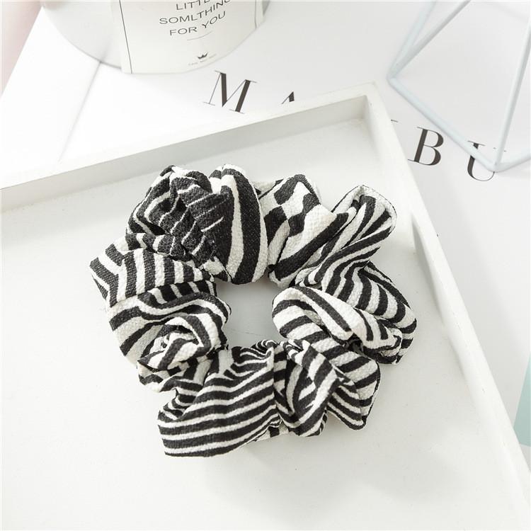 Zebra strips chiffon scrunchies