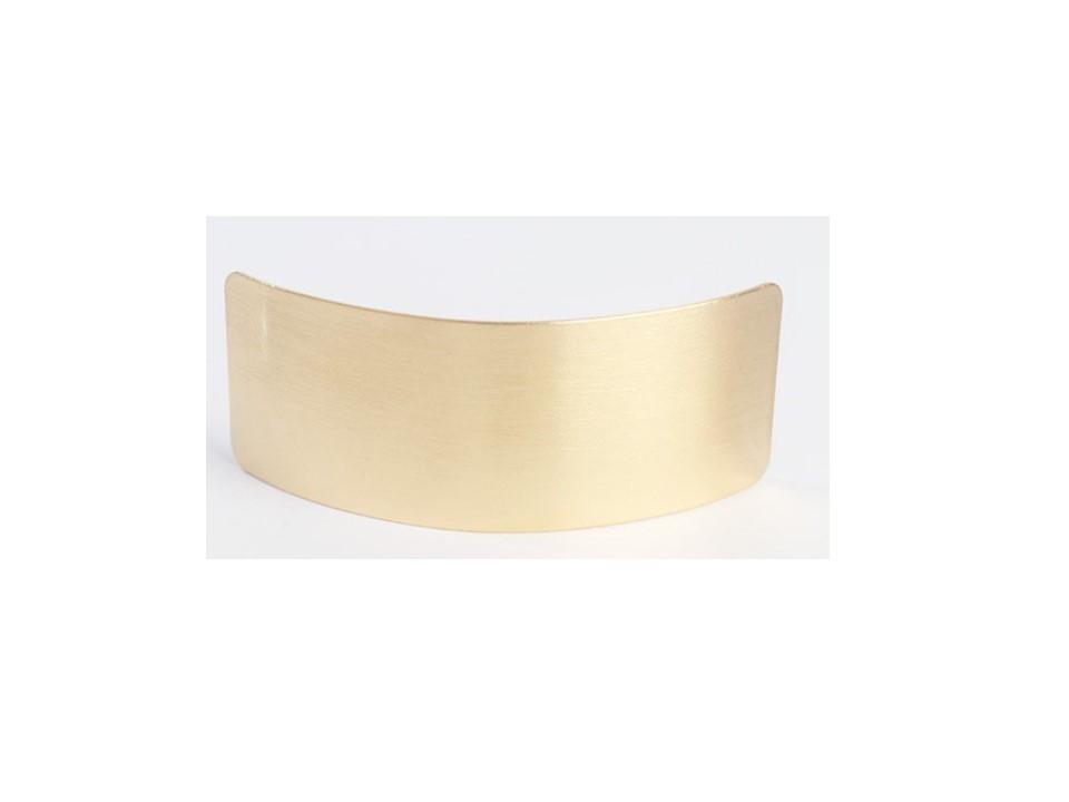 Arc rectangle barrette in brushed metal