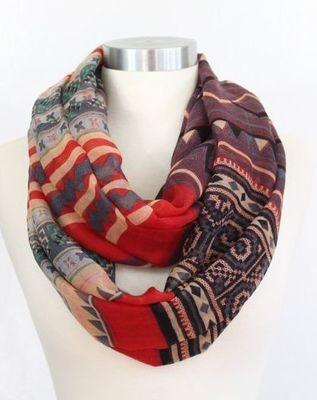 Bohemian infinity scarf