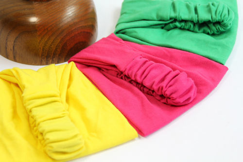 Cotton stretch bandanna headband