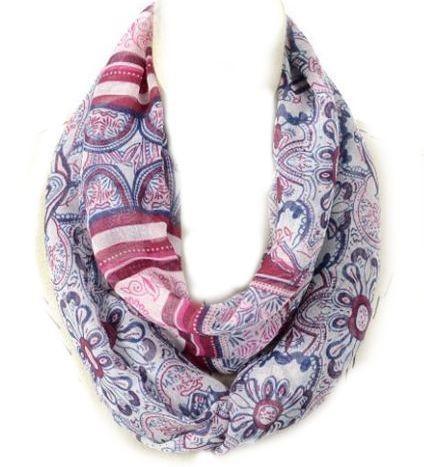 Floral totem print infinity scarf