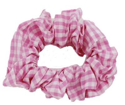 Check pattern scrunchies