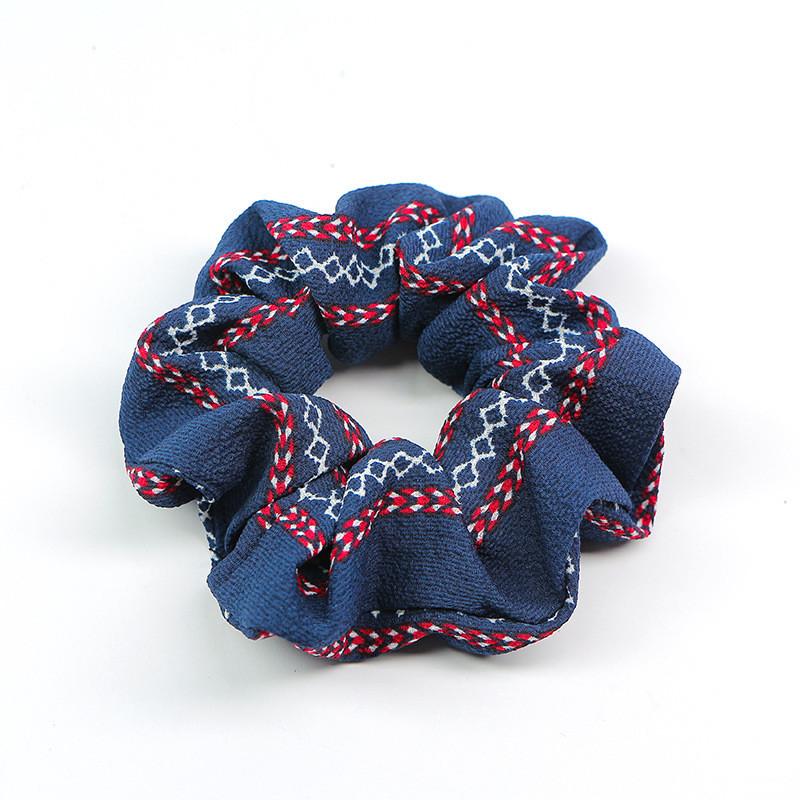Totem floral chiffon scrunchies