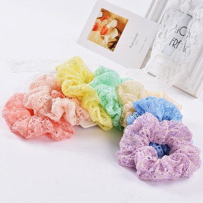 Beautiful lace scrunchies